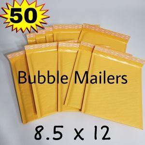 50ct Bubble Mailers 8.5x12 Kraft Super Duty Bag